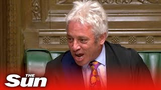 Bercow loses it after announcing his resignation