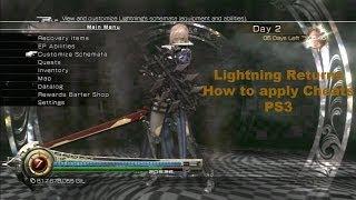 [PS3] Final Fantasy 13 Lightning Returns (How to apply Cheats)