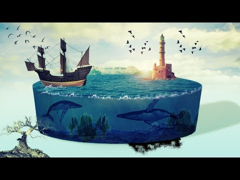 3d circle of sea water photo manipulation | photoshop tutorial cs6/cc