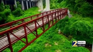 Peachtree Creek Greenway WSB-TV Channel 2 Drone Video