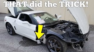 THIS is why the Cheap Salvage Corvette Won't Start! Easy 0 Fix!