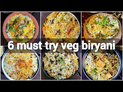 6 must try veg biryani recipes   unique biryani recipes