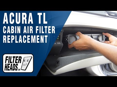Replace Cabin Air Filter Acura TL - YouTube
