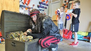 Nerf War : The Lost Treasure X Quest (FUNNY VIDEOS)