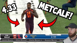 Rugby Player Reacts to The 2019 NFL Combine WIDE RECEIVERS Running The 40 YARD DASH!
