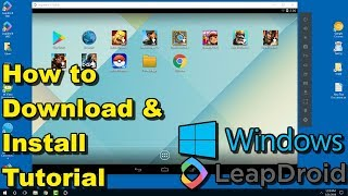 Gambar cover LeapDroid 2018 Android Emulator for Windows - How to Download and Install Tutorial