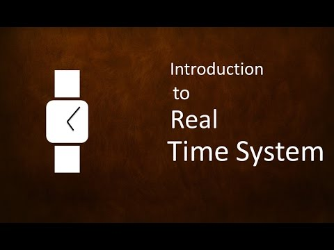 Introduction to Real Time System # Lecture-1