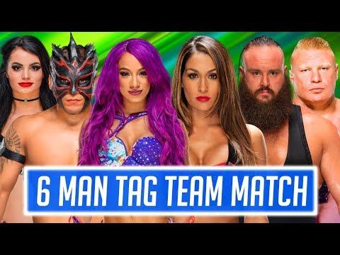 Sasha Banks & Kalisto & Paige vs. Nikki Bella & Braun Strowman & Brock Lesnar (WWE 2K18 PC Mods)