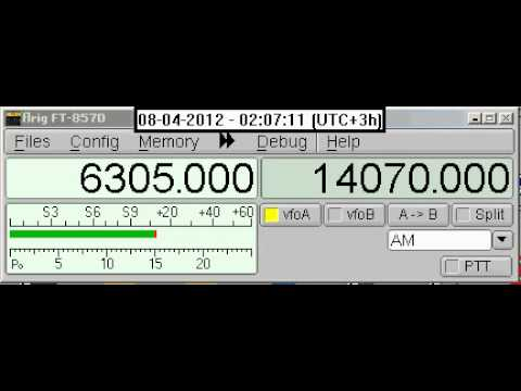 Shortwave 6305 KHz - UNID Radio Station - 20120408_0156_23.avi