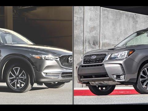 2017 Subaru Forester 2.0XT Touring vs. 2017 Mazda CX-5 2.5 SkyActiv ...