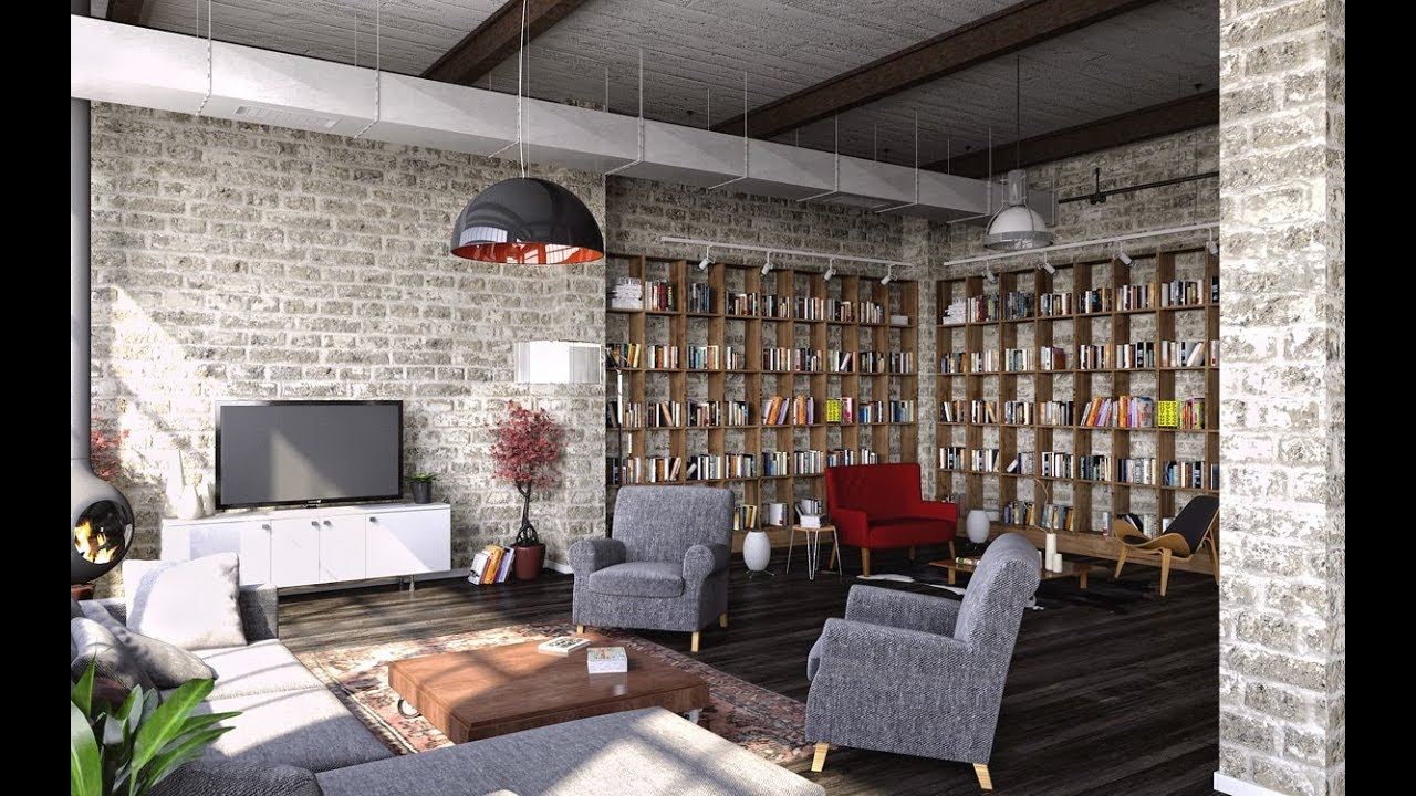 appealing industrial living room design | Modern Industrial Style Living Room Design Ideas - YouTube