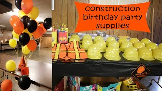 CONSTRUCTION BIRTHDAY PARTY HAUL