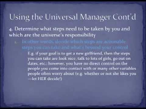 Law of Attraction as a Universal Manager