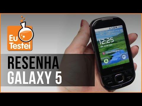 Galaxy 5 Samsung Smartphone - Vídeo Resenha EuTestei Brasil