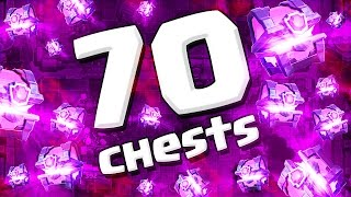 OPENING 70 CHESTS  :: Clash Royale  ::  700,000 SPECIAL CHEST OPENING