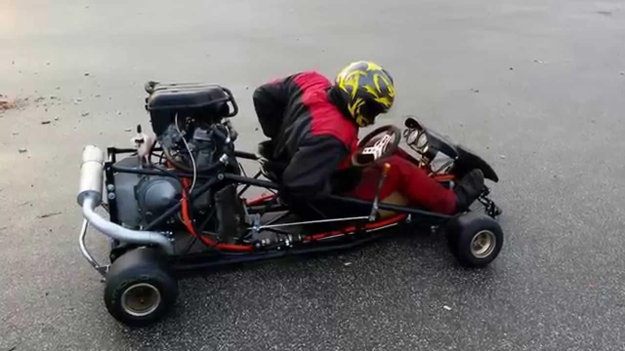Monster Kart ZZR 600 GoKart Umbau Erste Testfahrt No 1