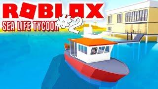 FISKEBÅDEN! - Roblox Sea Life Tycoon Dansk Ep 2 med ComKean