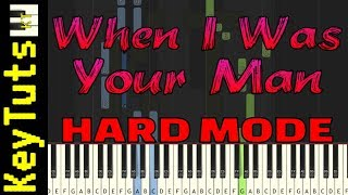 Learn to Play When I Was Your Man by Bruno Mars - Hard Mode
