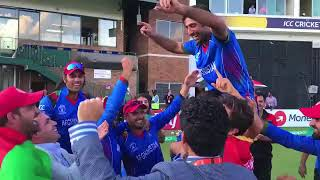 Afghanistan celebrates qualifying for ICC Cricket World Cup 2019