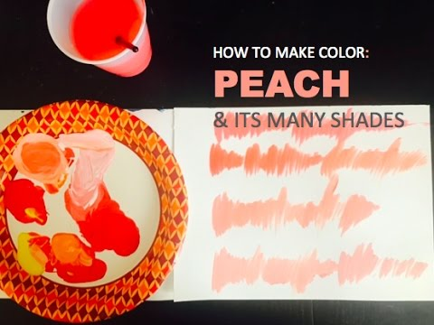 Color Mixing How To Make Peach Its Many Shades Painting Basics