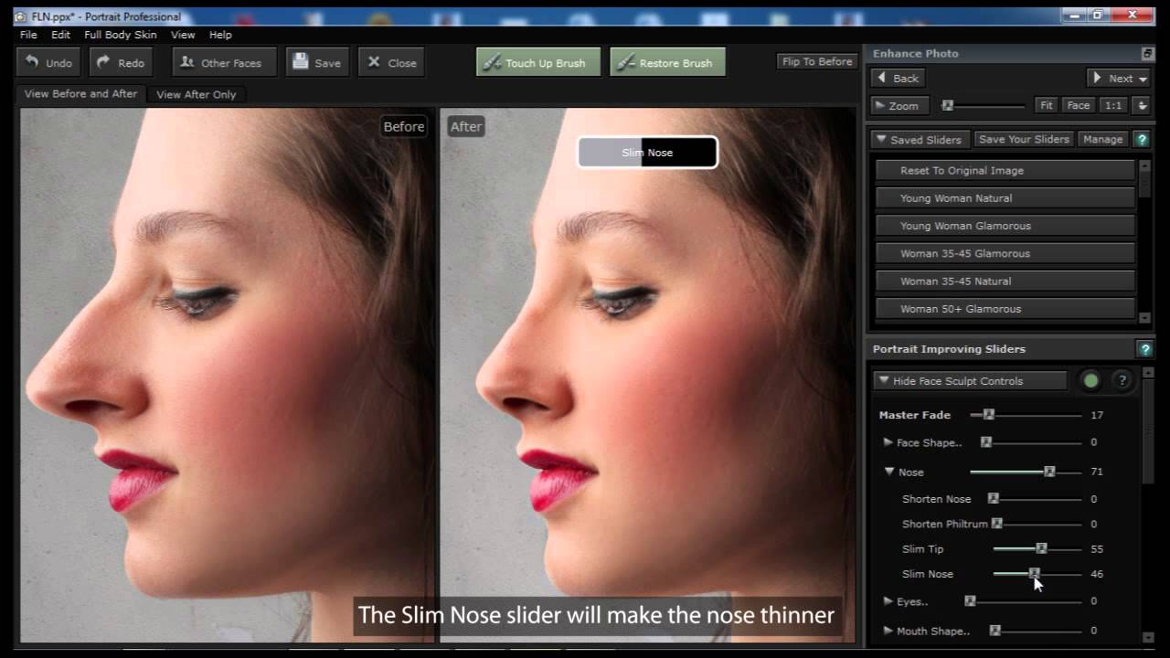 Portrait Professional 11  Digital Nose Job  YouTube