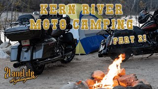 Kern River Motorcycle Camping! | Dąy 2 | Ride through Lake Isabella, Caliente, Bodfish, and More! 4K