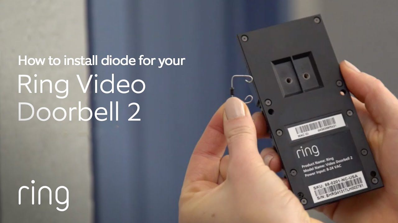 how to install a diode for ring video doorbell 2 [ 1280 x 720 Pixel ]