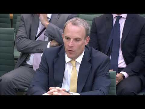 LIVE: UK Foreign Secretary Dominic Raab is questioned by lawmakers on Afghanistan