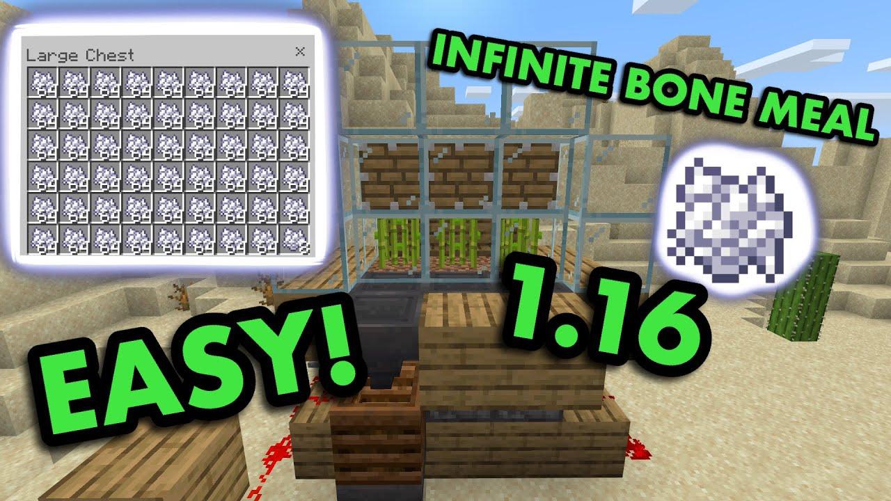 Simple 1 16 Bonemeal Farm Tutorial In Minecraft Bedrock Mcpe Xbox Ps4 Nintendo Switch Windows10 Youtube