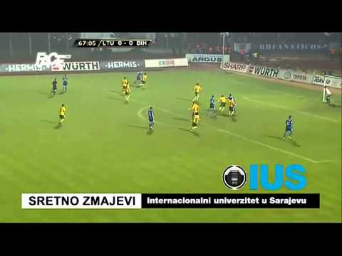 Lithuania 0-1 Bosnia and Herzegovina Goal Vedad Ibisevic for the World Cup 2014