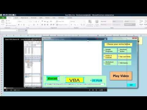 Embed Shockwave Flash In Excel - Livio's Example
