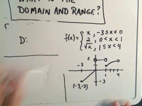 Finding the Domain and Range of a Piecewise Function - YouTube