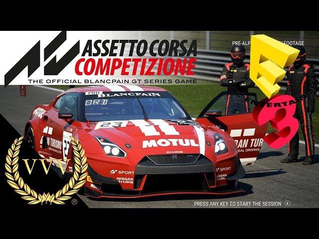 Assetto Corsa Competizione Gameplay Monza Dry E3 2018