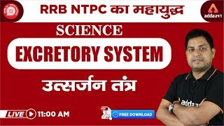 RRB NTPC 2019 - Science - Excretory System