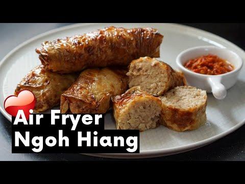 Air Fryer Ngoh Hiang (Chinese Pork Roll) | Air Fryer Recipe
