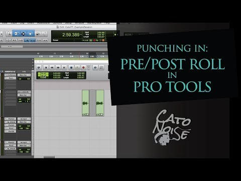 Pro Tools Basics: Punching In, Pre & Post Roll When Recording
