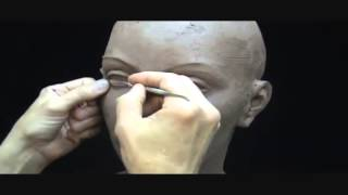 Скульптура из глины , Sculpting a female head in clay  Sculpting tutorial and demo