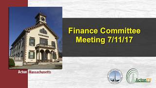 Finance Committee Meeting 7/11/17