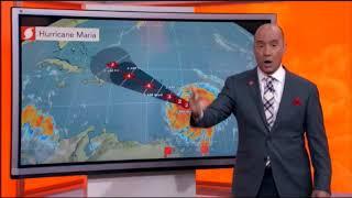 Hurricane Maria Live Tracking - Hurricane Maria 2017 - Hurricane Maria Follows Irma`s Path