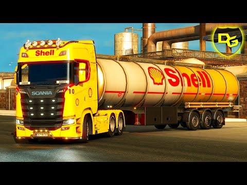 SHELL Kerosin ⛽ Transport  - Euro Truck Simulator 2 #12 - Daniel Gaming - Deutsch