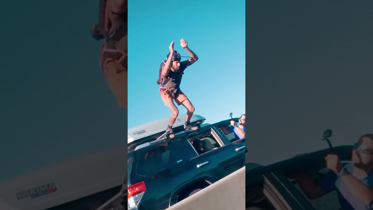 Epic Jump Off Moving Car