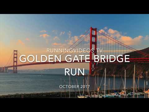 Crissy Park - Golden Gate Bridge Running Video