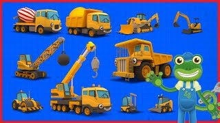 Counting Construction Trucks | Learn With Gecko | Learn to Count 1 to 10