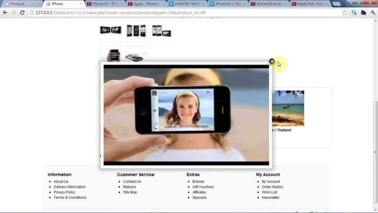 Opencart Product Video Extension - Fast Youtube & Vimeo Video Product - Opencart video module