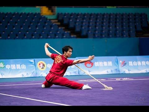 Men's Spear 男子枪术 第1名 上海寰裕体育 彭傲枫 9.68分 Shang Hai Peng Ao Feng