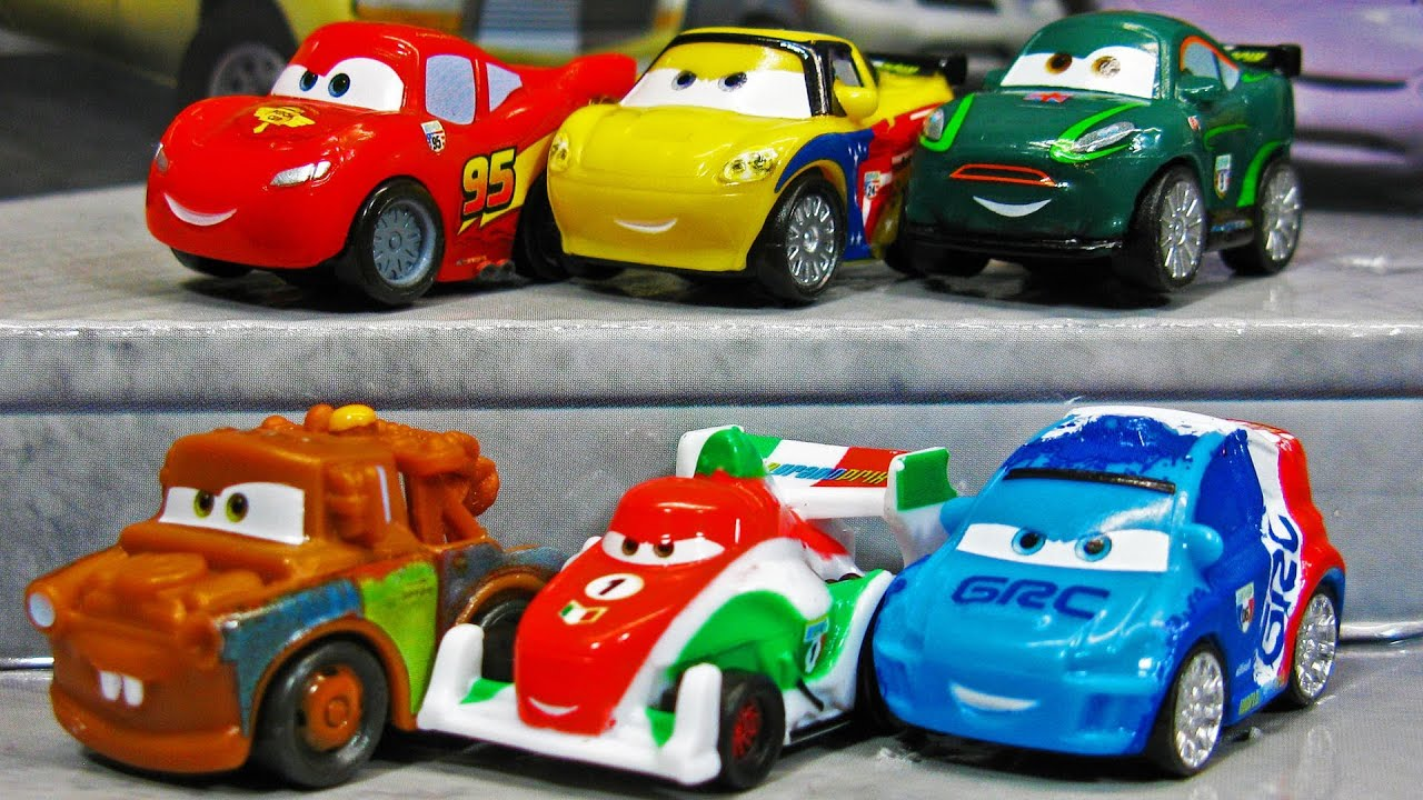 cars 2 micro drifters more new 2012 releases mattel toys disney pixar youtube. Black Bedroom Furniture Sets. Home Design Ideas