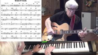 SIDE BY SIDE - Jazz guitar & piano cover ( Harry M. Woods )