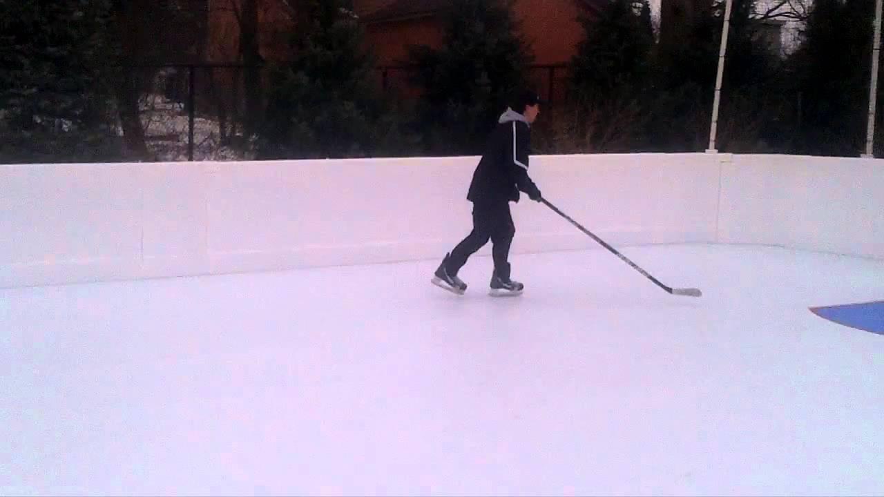 Outdoor Synthetic Ice Rink Kwik Rink YouTube - Backyard synthetic ice rink