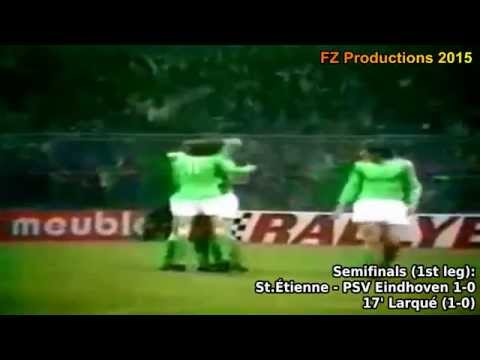 1975-1976 European Cup: AS Saint-Étienne All Goals (Road to the Final)