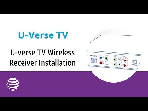 U Verse Tv Wireless Receiver Installation At T U Verse Youtube